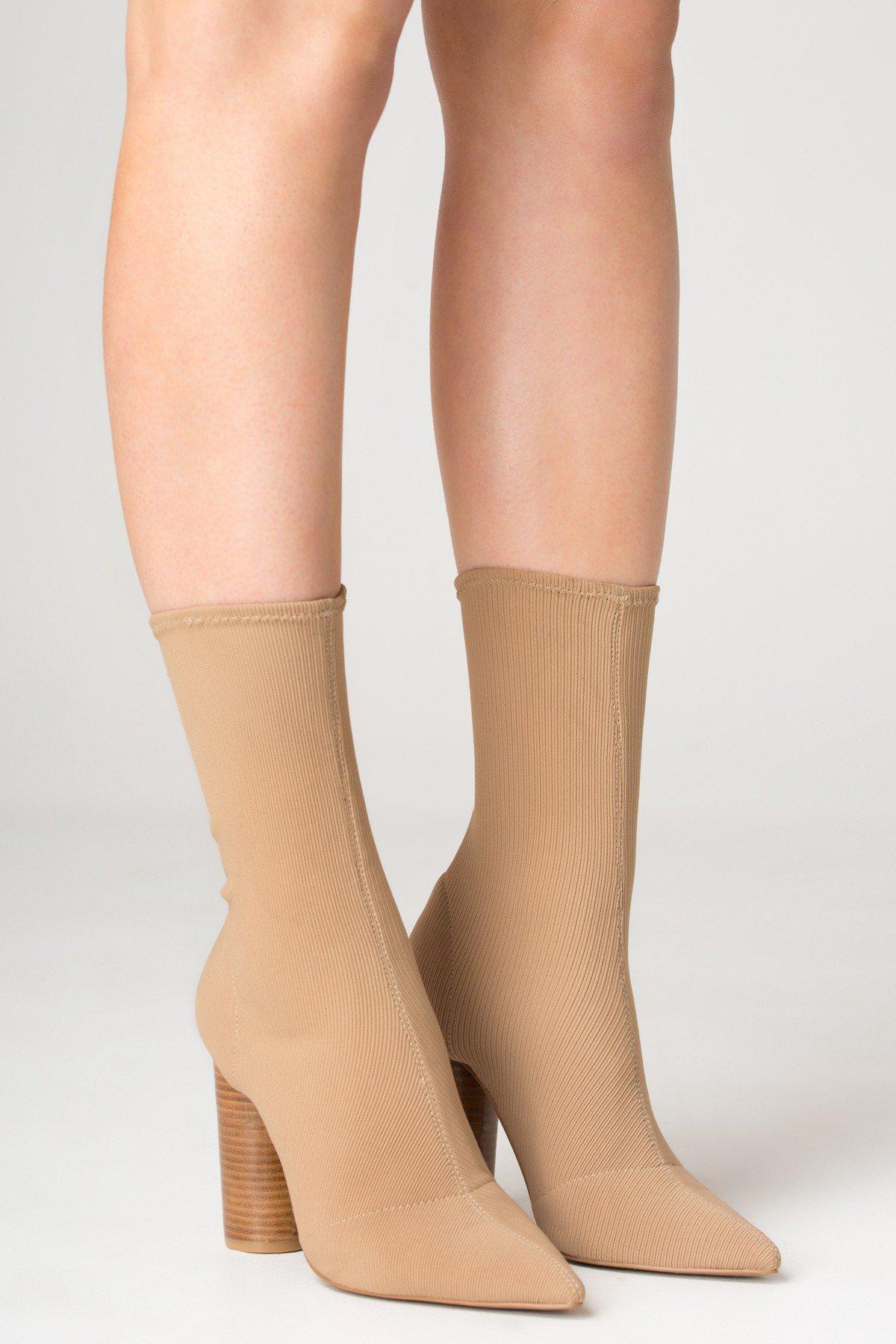 JAGGAR Ribbed Sock Boot
