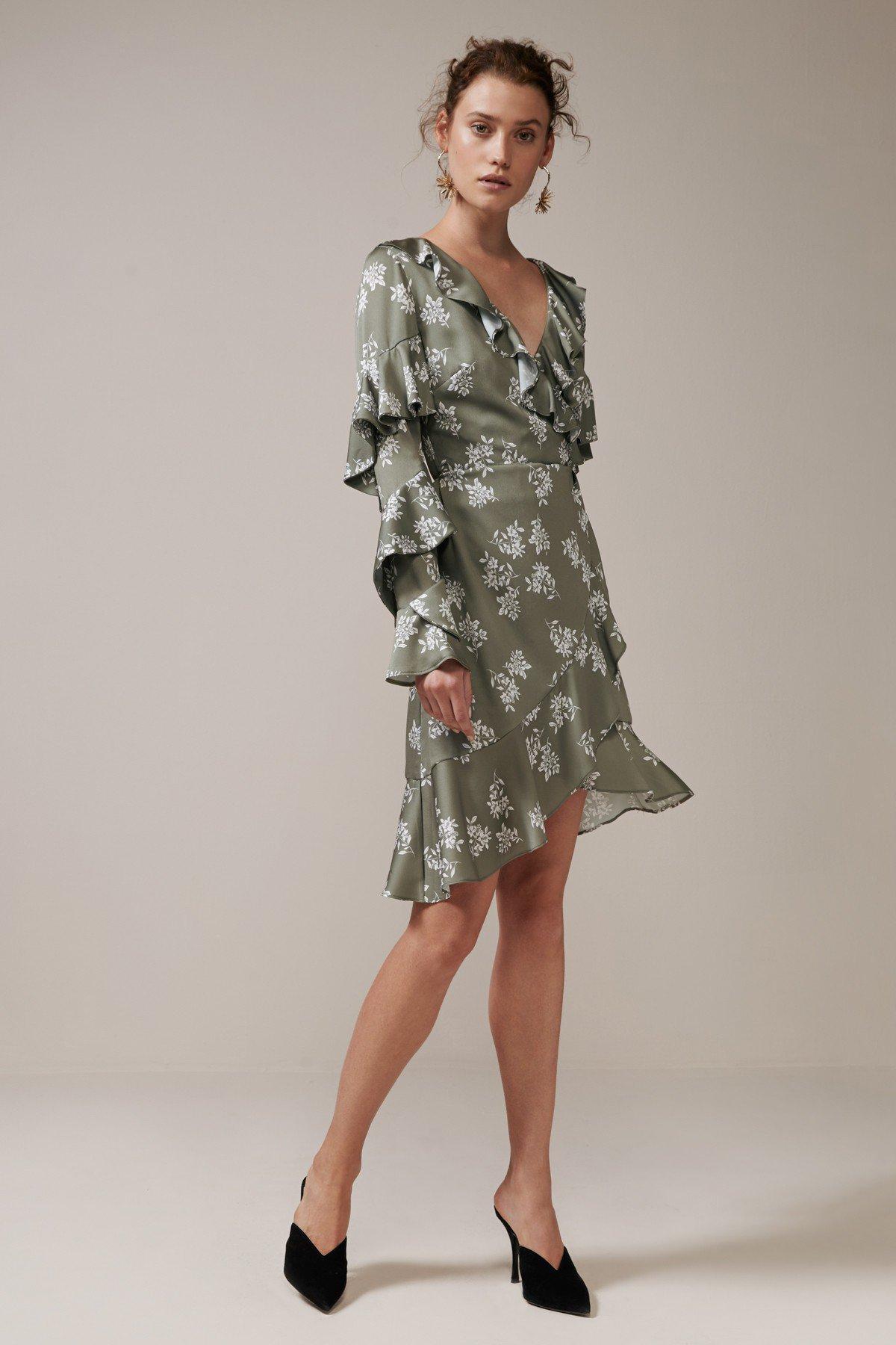 Shop Keepsake Love Bound Long Sleeve Wrap Dress.
