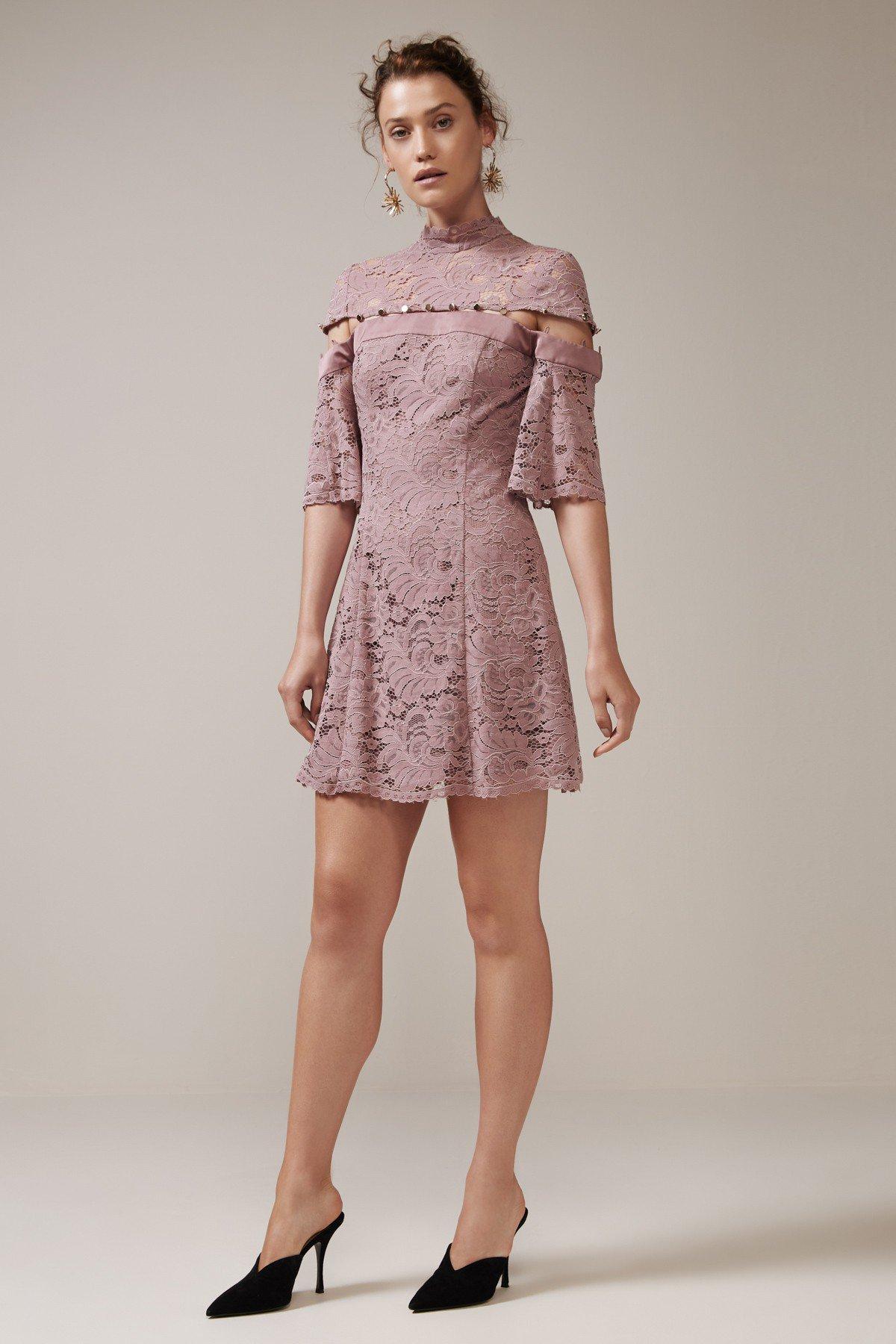 Shop Keepsake Star Crossed Lace Mini Dress.