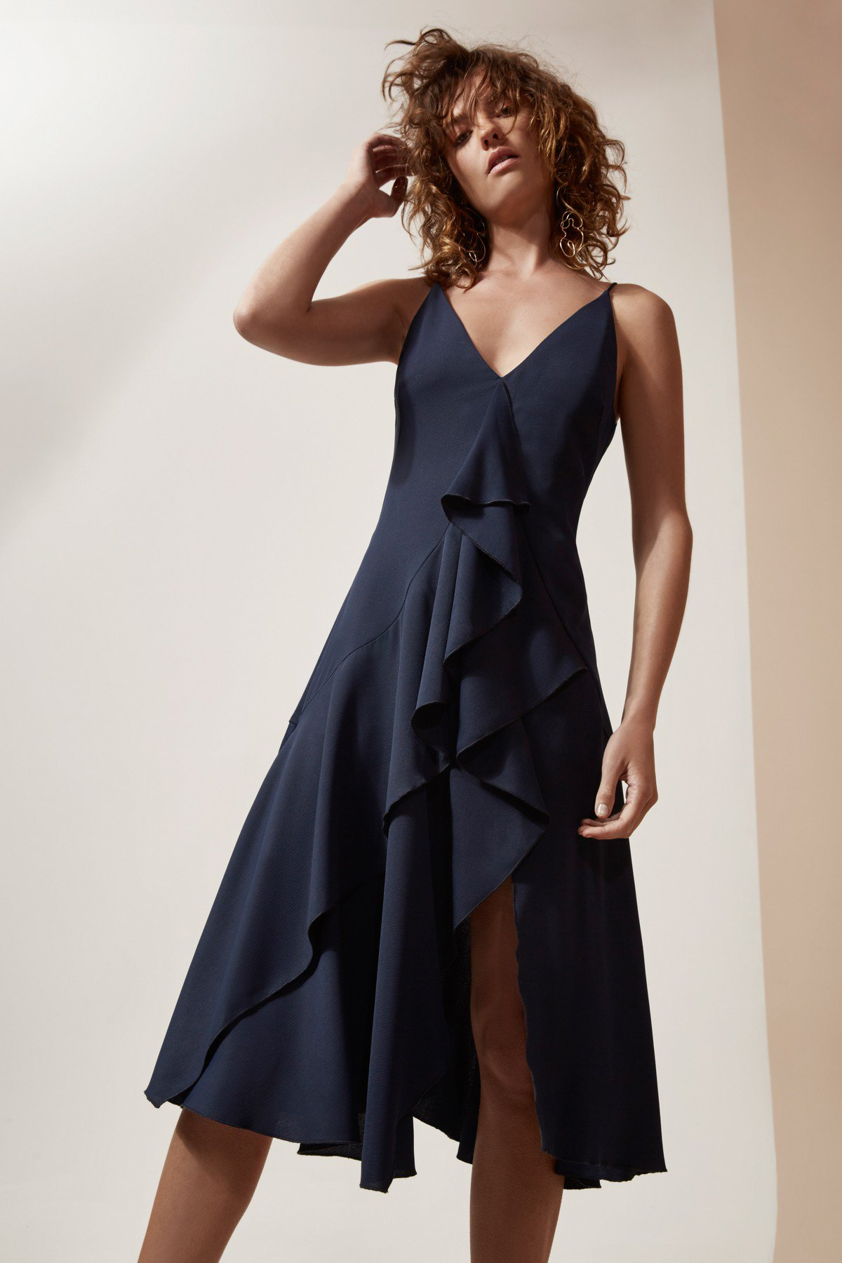 Shop C/MEO Gossamer Short Sleeve Dress.