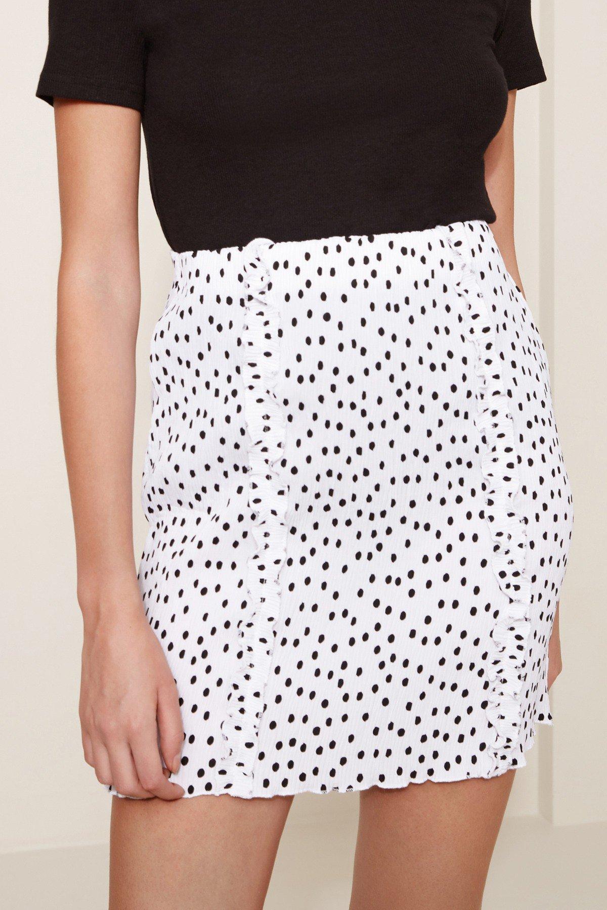 Shop The Fifth Atlanta Polka Dot Skirt.