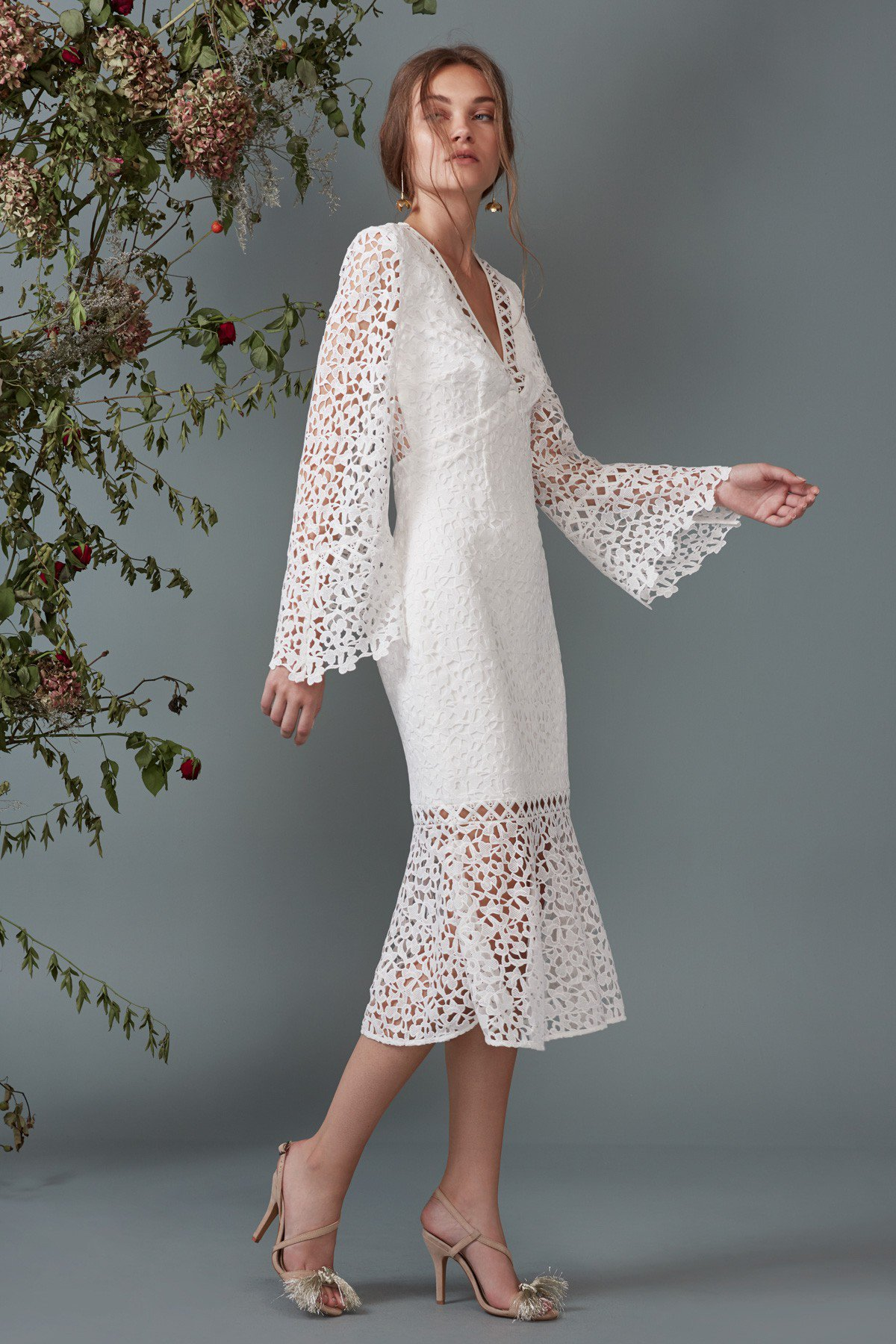 Keepsake The Label Uplifted Lace Midi Dress
