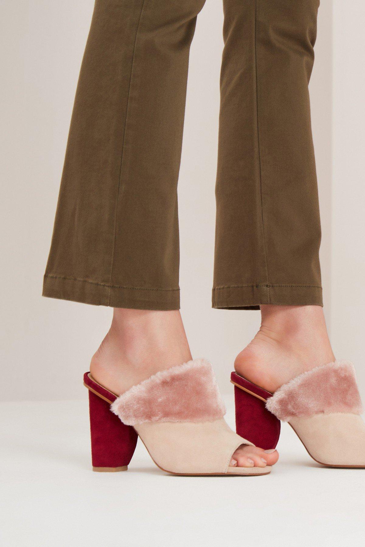 Jaggar Footwear Polar Faux Fur Moon Heel