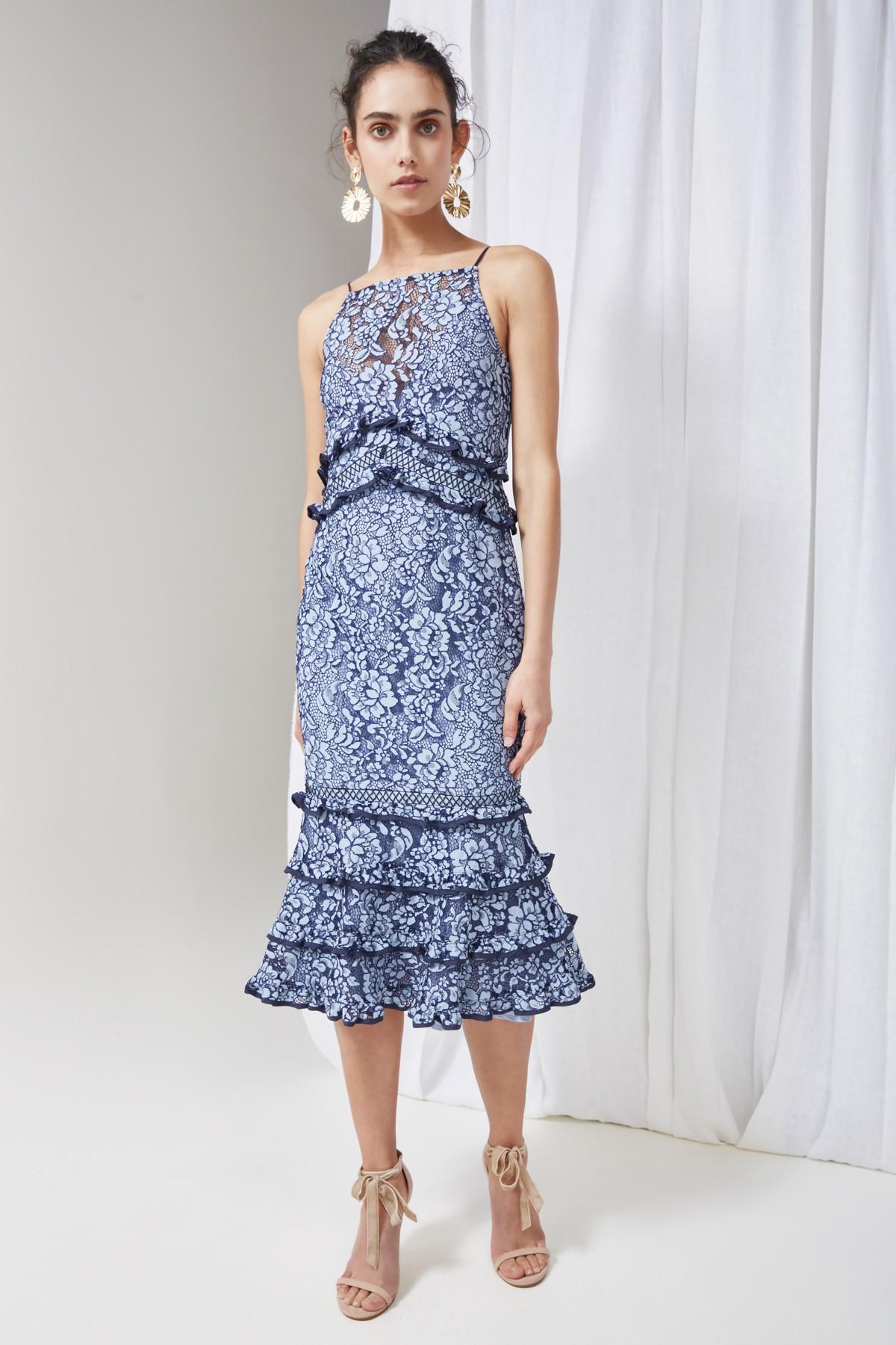 Shop Keepsake Catch Me Lace Midi Dress.
