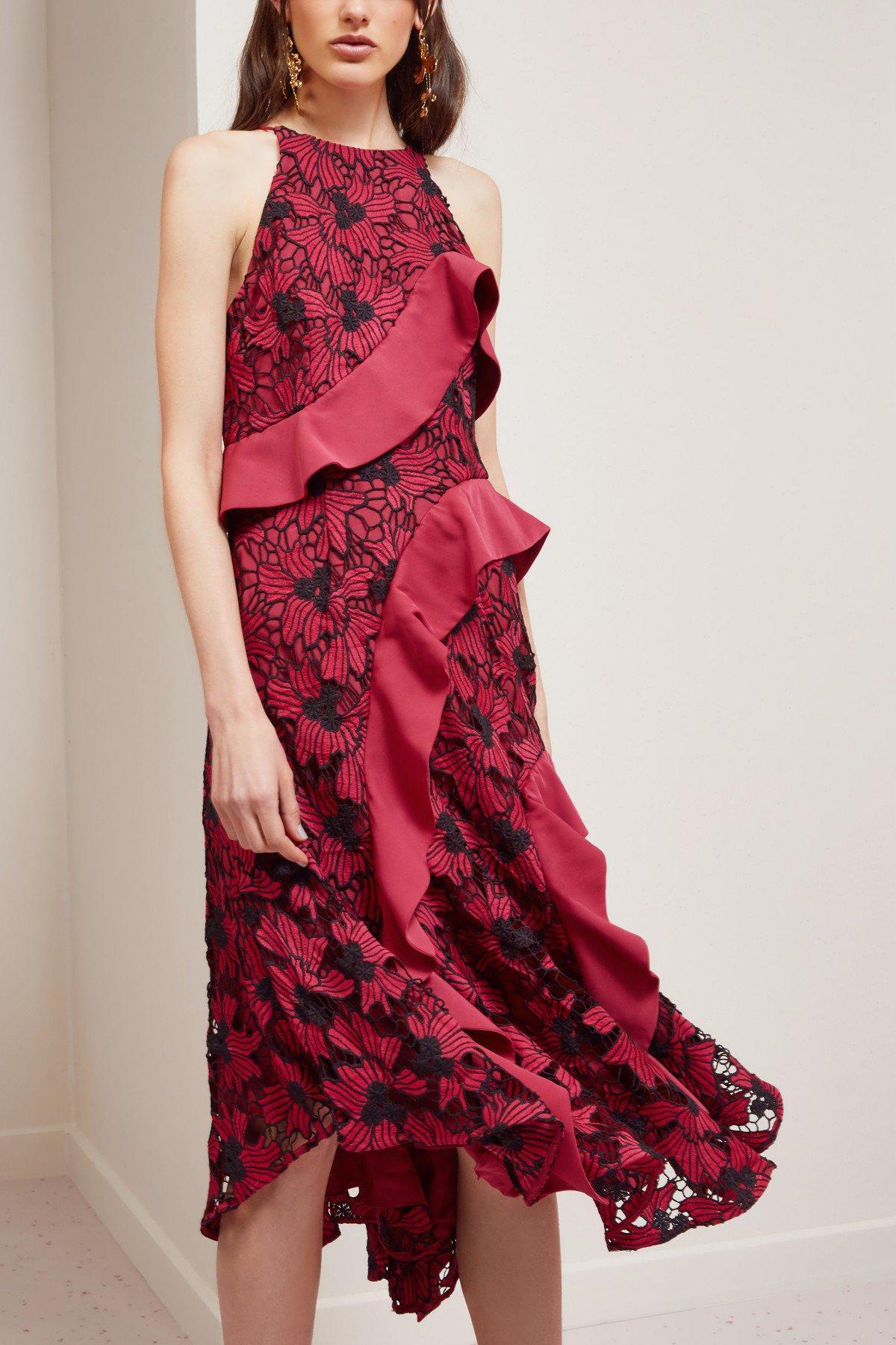 Shop Keepsake Break Free Lace Midi Dress.