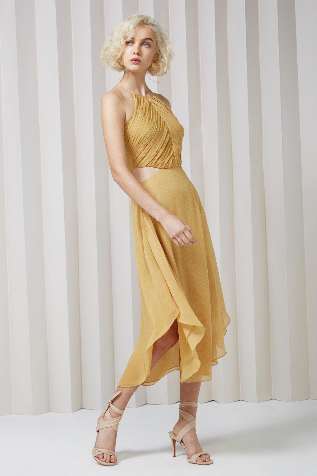 Keepsake Elevate Dress Golden Mustard