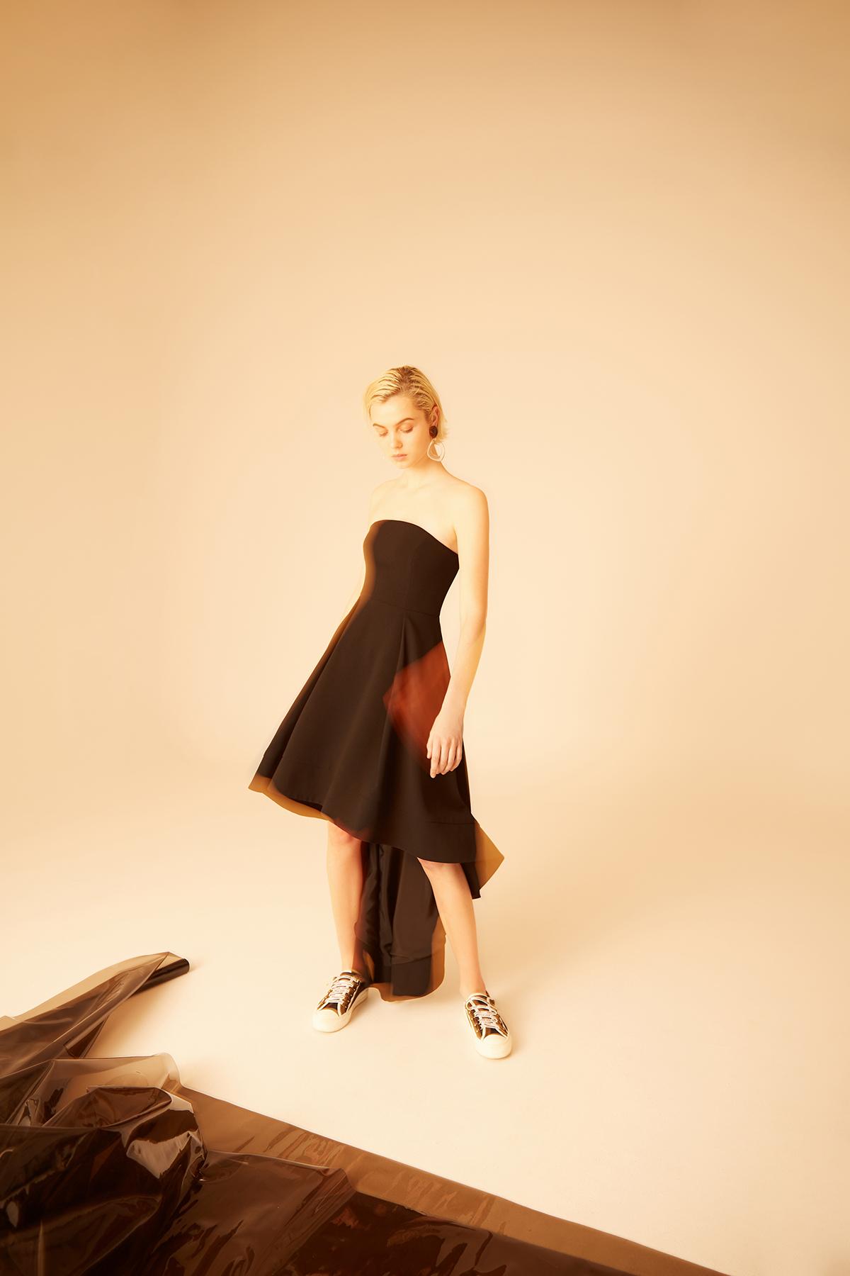 Shop C/MEO Magnetise Strapless Dress.