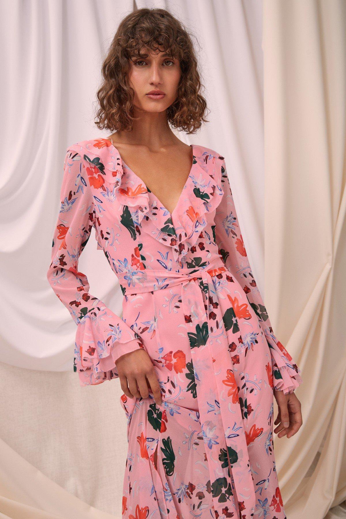 Shop C/MEO Elude LS Midi Dress.