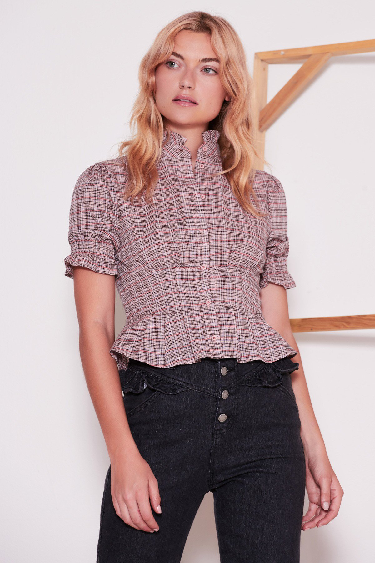 Shop  The Fifth Collegiate Check SS Top  +  Subject Jean .