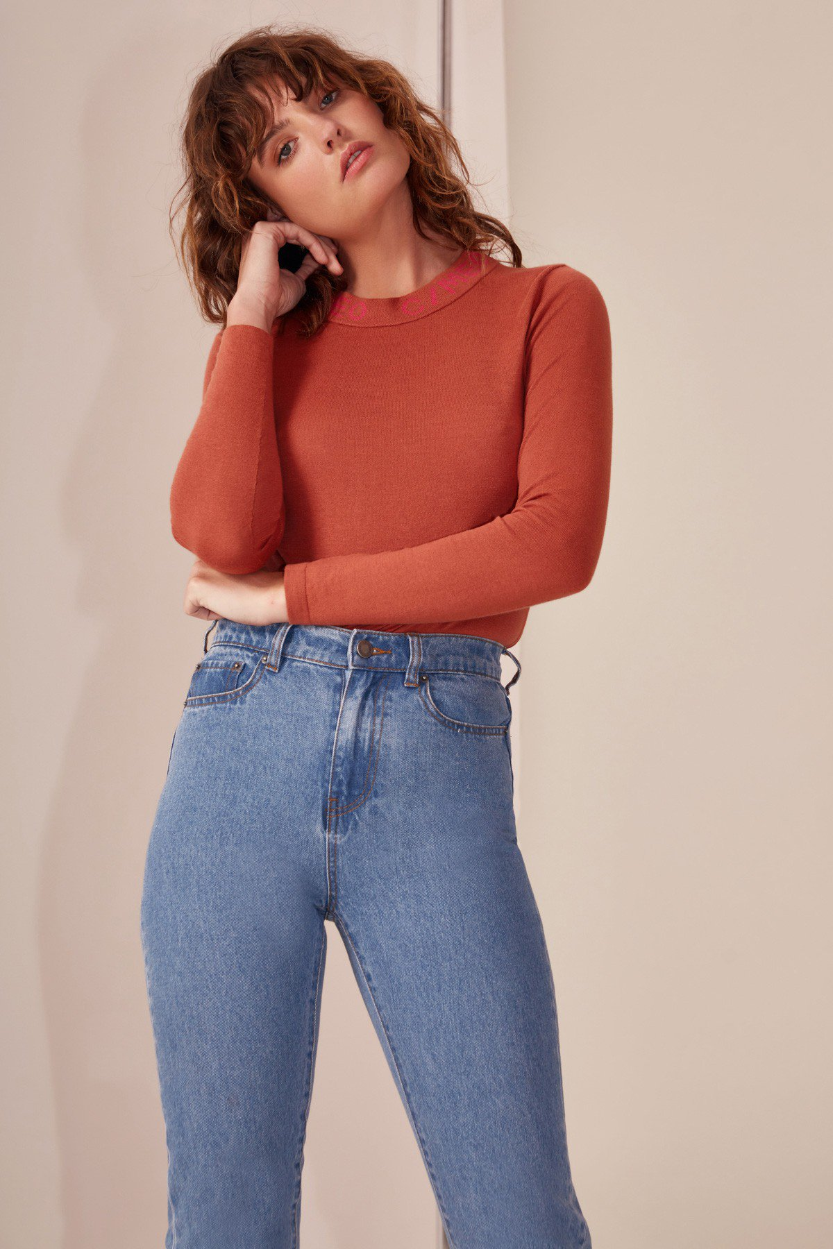 Shop C/MEO Collect Knit Top  +  Keep On Jean .