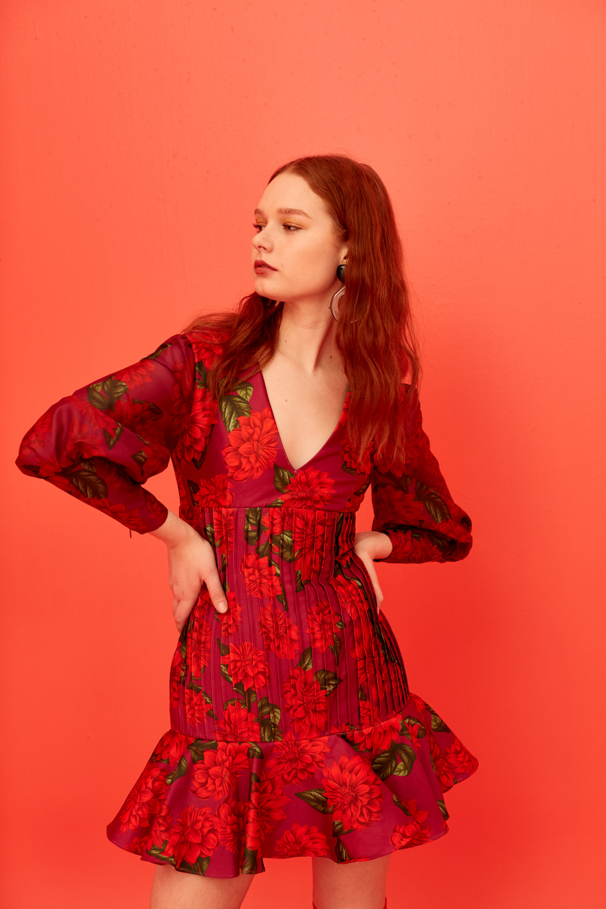Grace wears Keepsake Step Aside LS Dress.