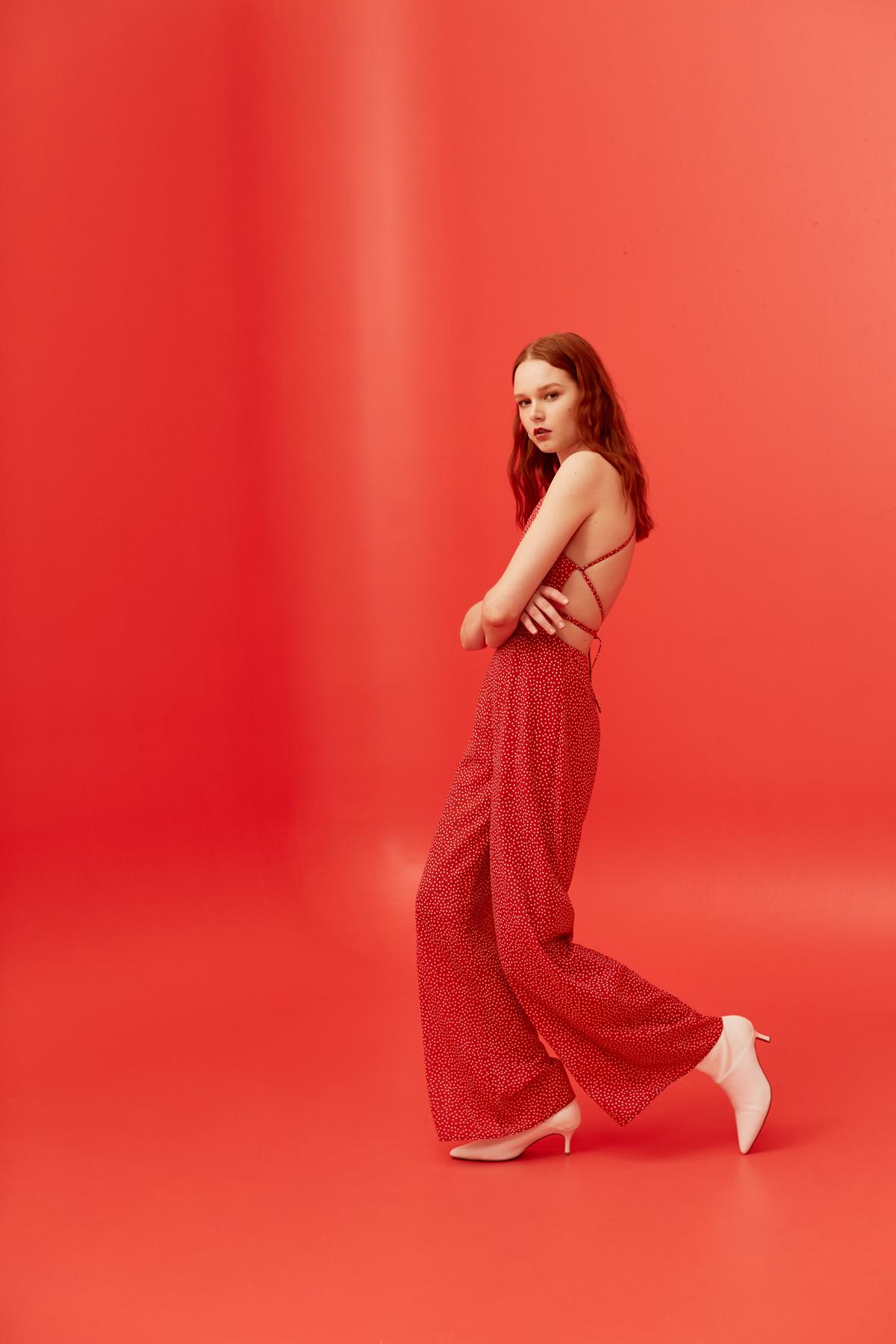 Ruby wears Finders Keepers Solar Pantsuit.