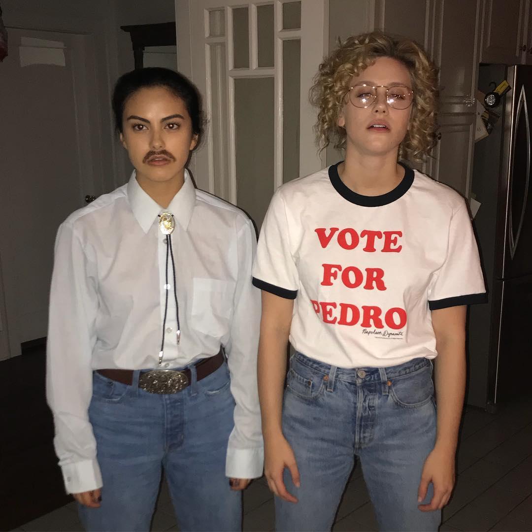 Camila Mendes + Lili Reinhart as Pedro + Napoleon // via instagram.com/camimendes