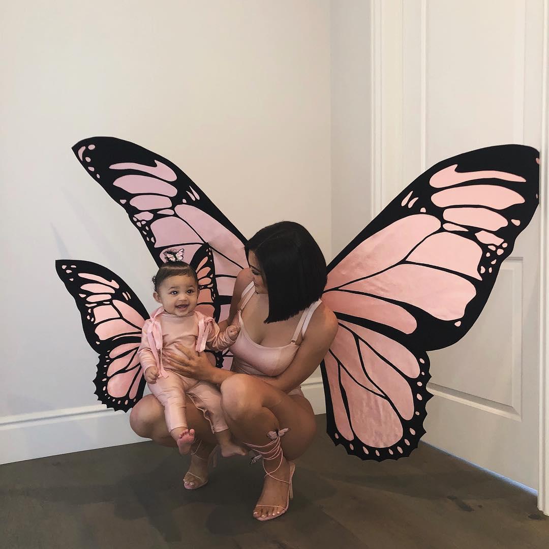 Kylie Jenner + Stormi as butterflies // via instagram.com/kyliejenner