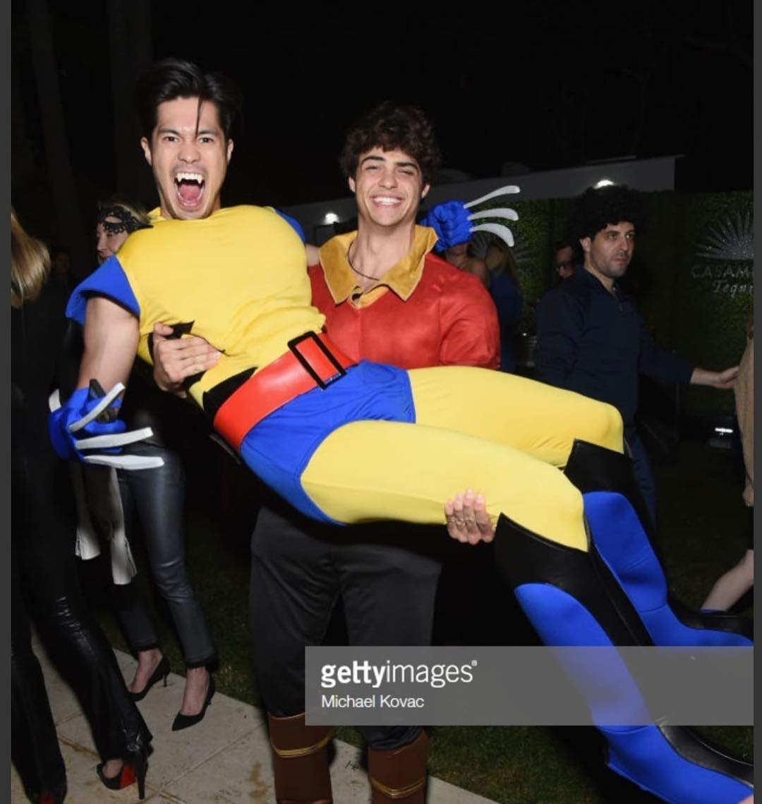 Ross Butler + Noah Centineo as Wolverine + Gaston // via instagram.com/ncentineo