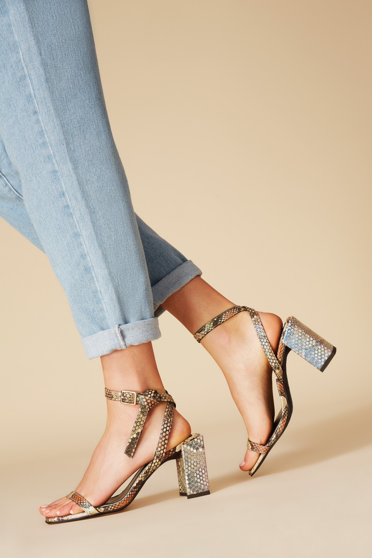 Shop JAGGAR Essentials Snake Heel.
