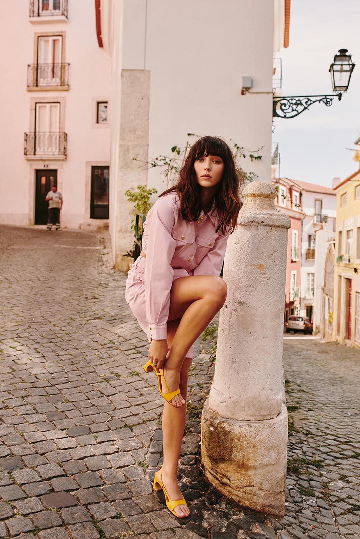 Shop  Finders Keepers Mesa Jacket ,  Mesa Skirt  +  JAGGAR Concave Leather Heel .