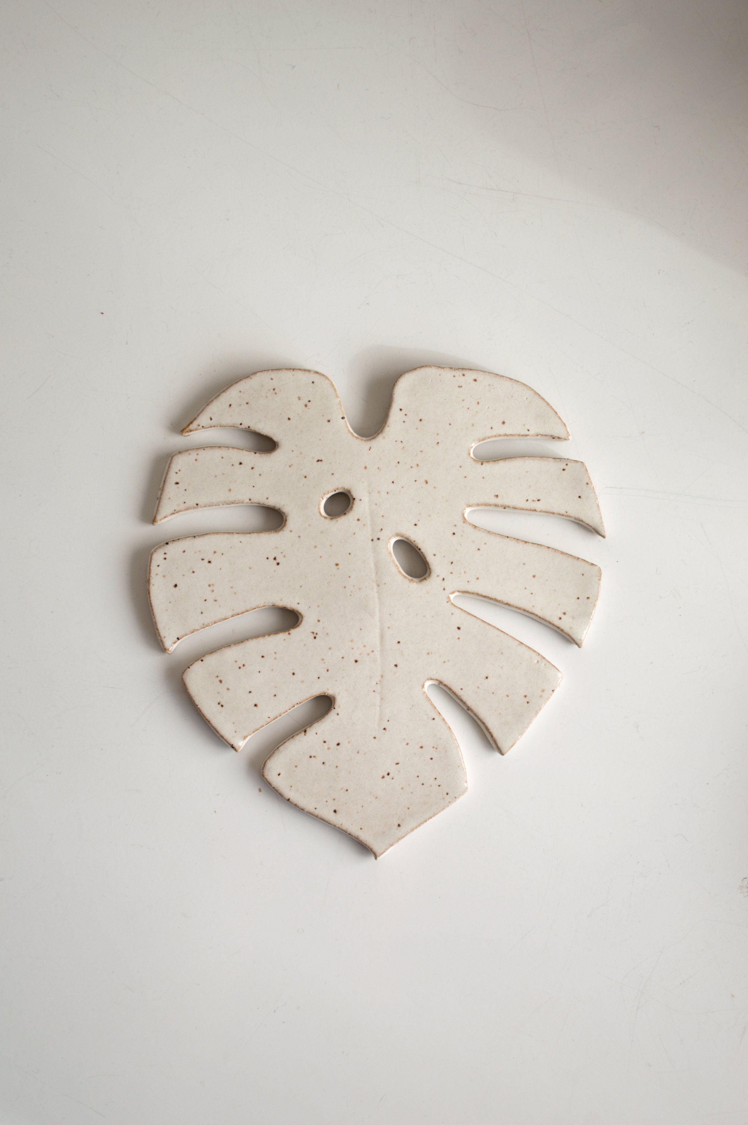 Monstera Trivet - Use as a trivet, incense catch all or wall hangingDimensions | 6