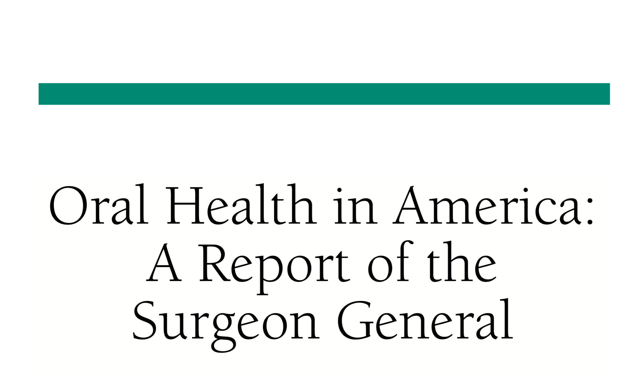 Click Here to See Surgeon General Report on Periodontal Disease and its Link to the Entire Body