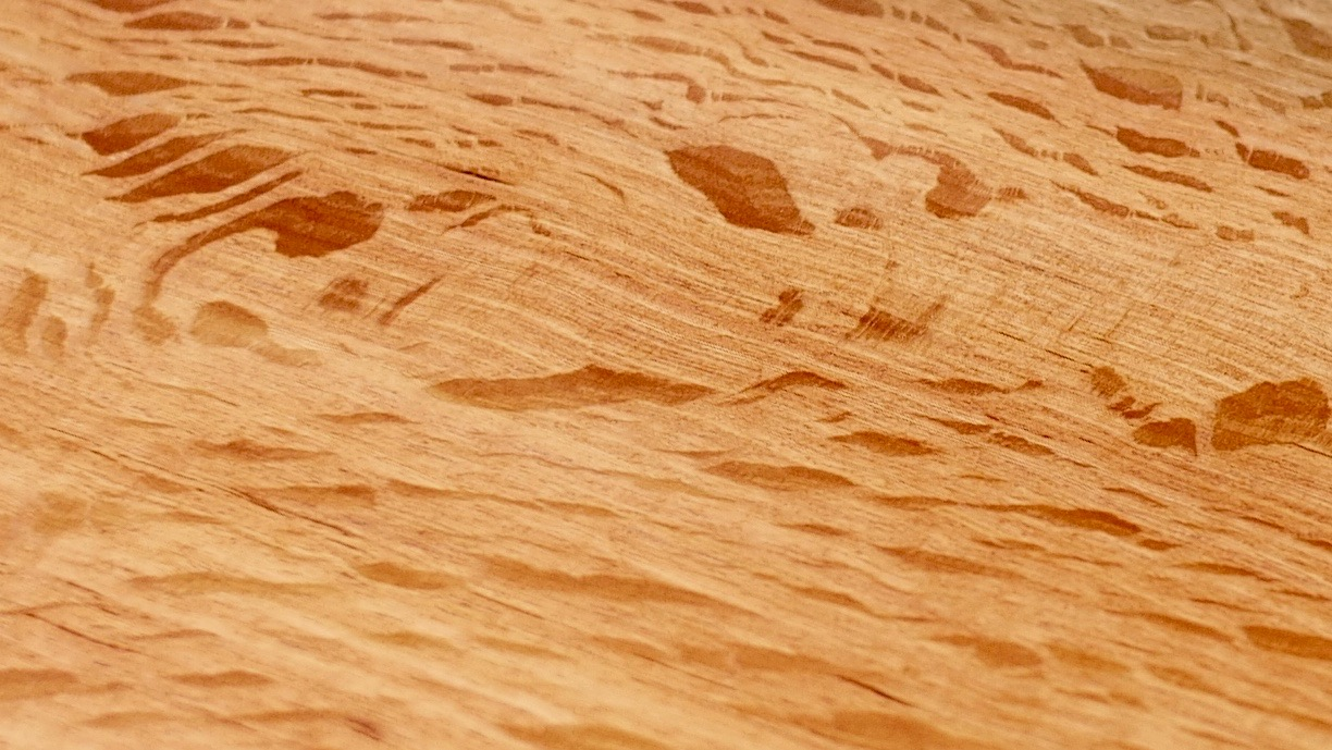 Sheoak - Allocasuarina fraserianaA beautiful timber with incredible colour, strength and grain pattern. A favourite for hard wearing kitchen utensils and sparingly used for one-off furniture commissions.