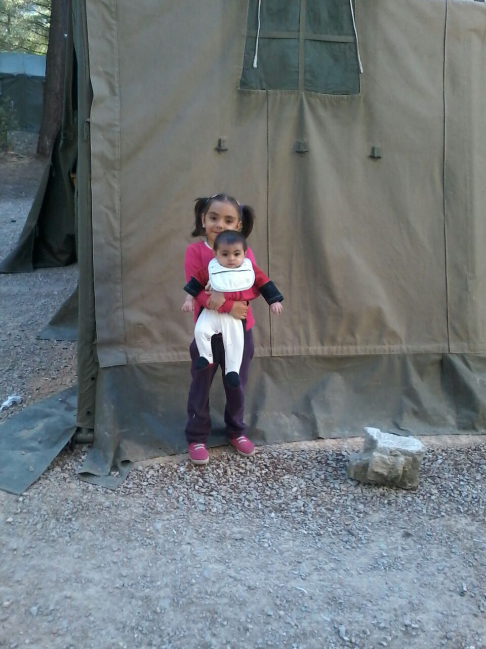 2 Beautiful Children in Greece, we have helped to support and their families since February 2016