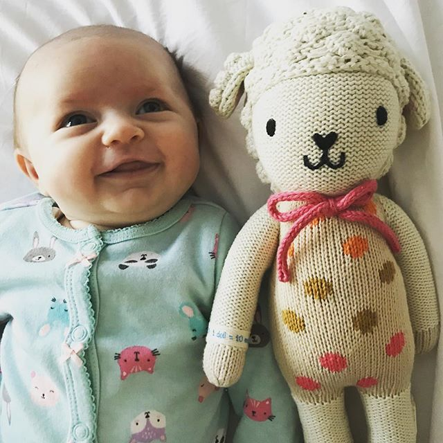 We love @cuddleandkind they produce beautiful hand knit dolls, that when purchased provide 10 meals to a child living with hunger. Our 6 week old daughter loves hers already! #charity #endworldfamine #famine #cuddleandkind #cuddleandkinddolls #childhunger #childnutrition #fairtrade #fairtradefashion