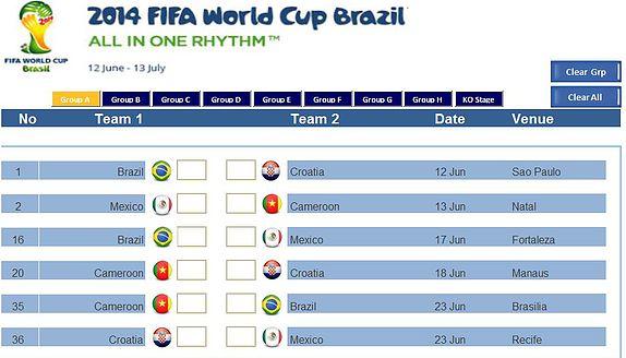 World Cup Excel Dashobard