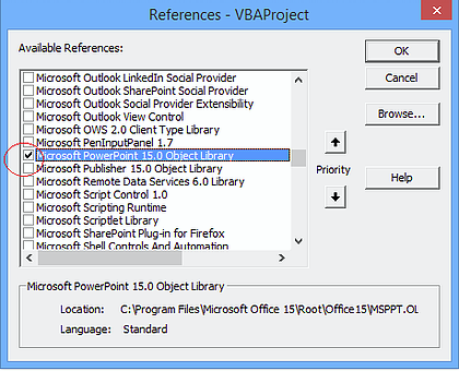 Copy and Paste an Excel Chart into PowerPoint with VBA — Excel