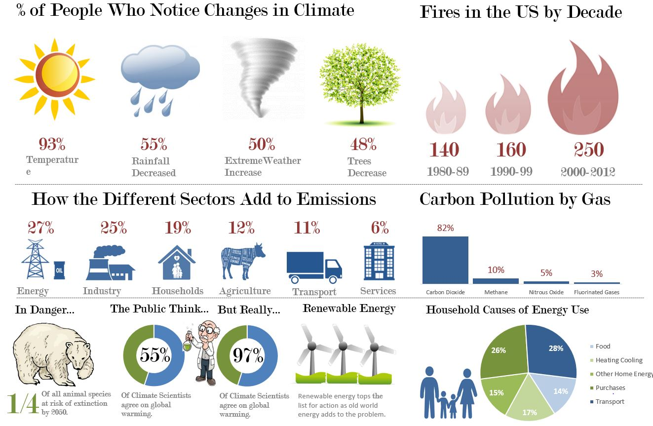 Excel Infographic Climate Change