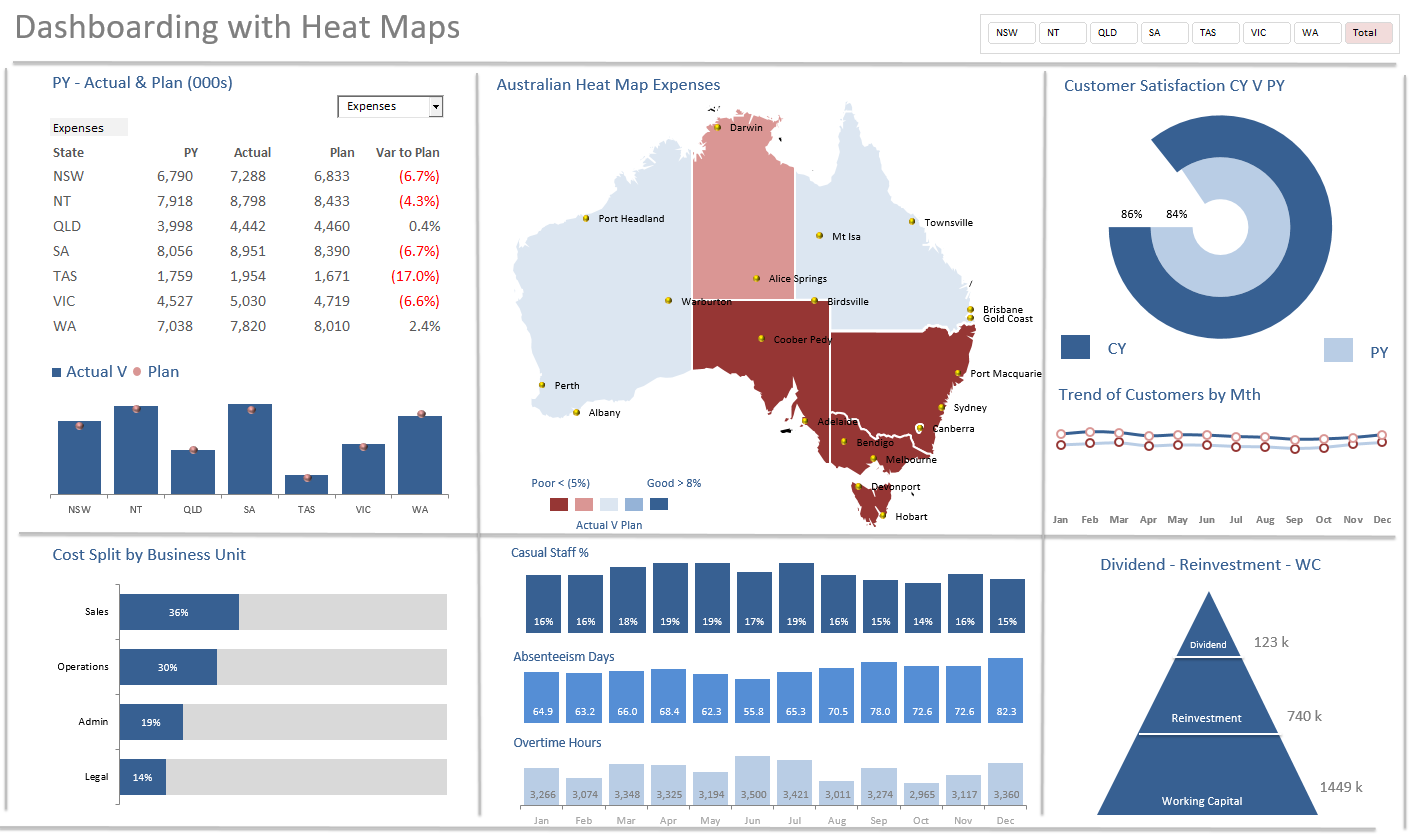 Heat Maps Excel Dashboard Course