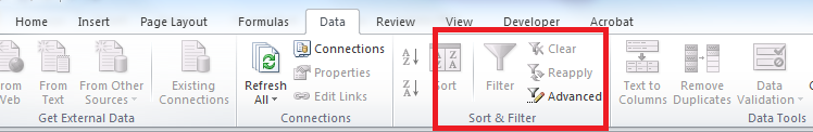 The autofilter button is greyed out and if you try and use the autofilter shortcut: Ctrl Shift L