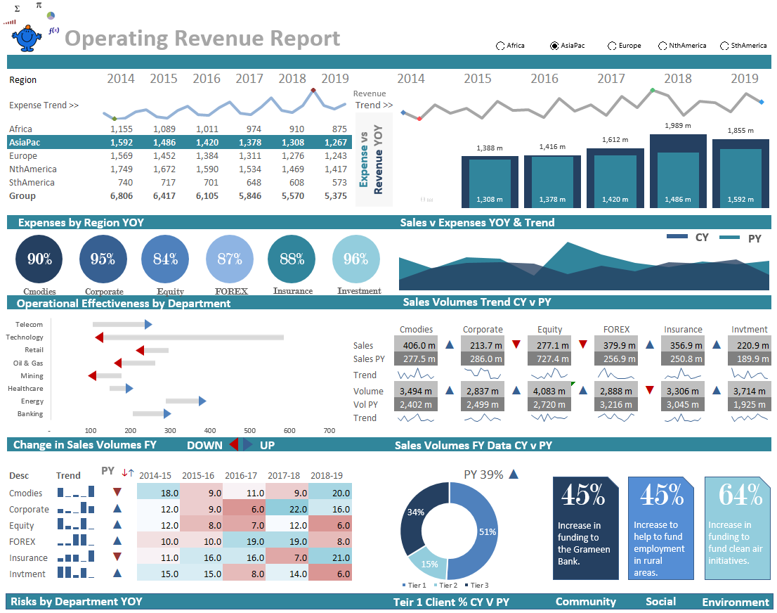 Operational Excel Dashboard Report