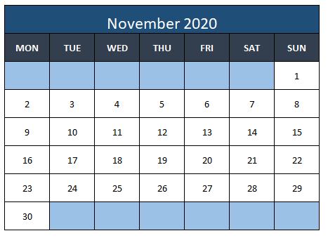 Excel template for calendar