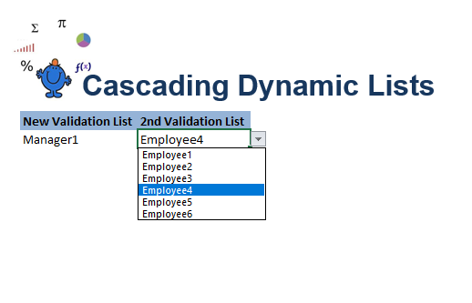 Cascading drop down Excel