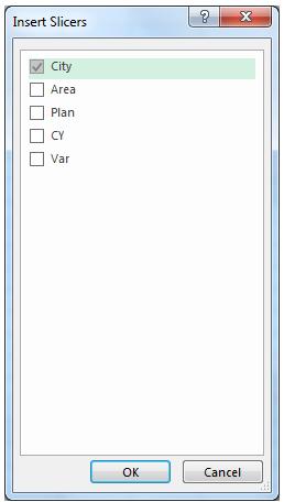 Slicer Excel