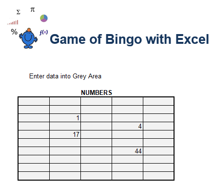 Game of Bingo in Excel