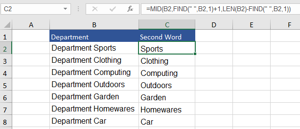 Text length Excel