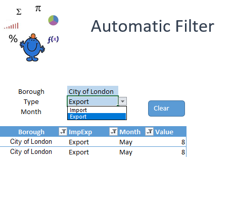 Automatically Filter with Excel — Excel Dashboards VBA and more