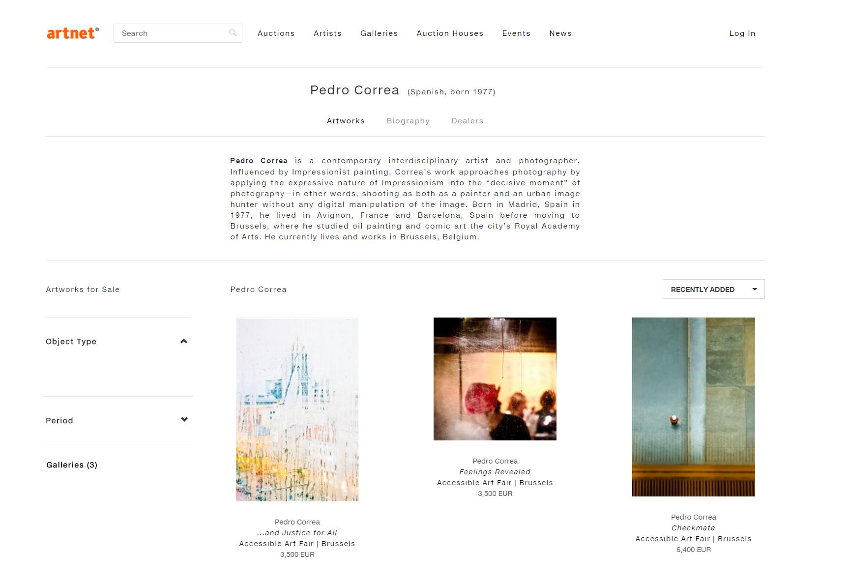 Artnet Artist Page