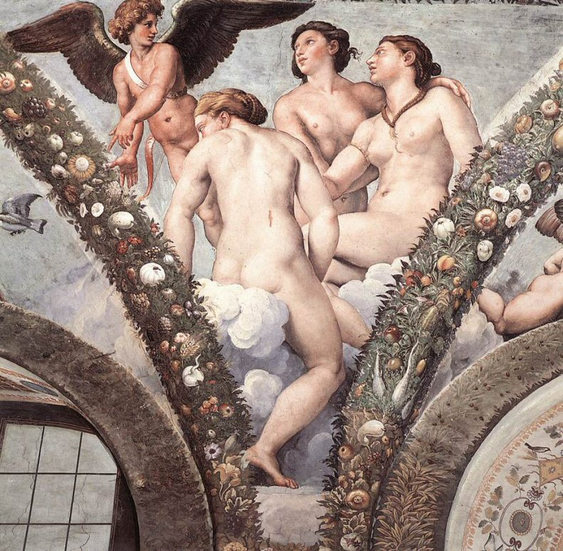 Cupid and the Three Graces, Raphael 1517.jpg