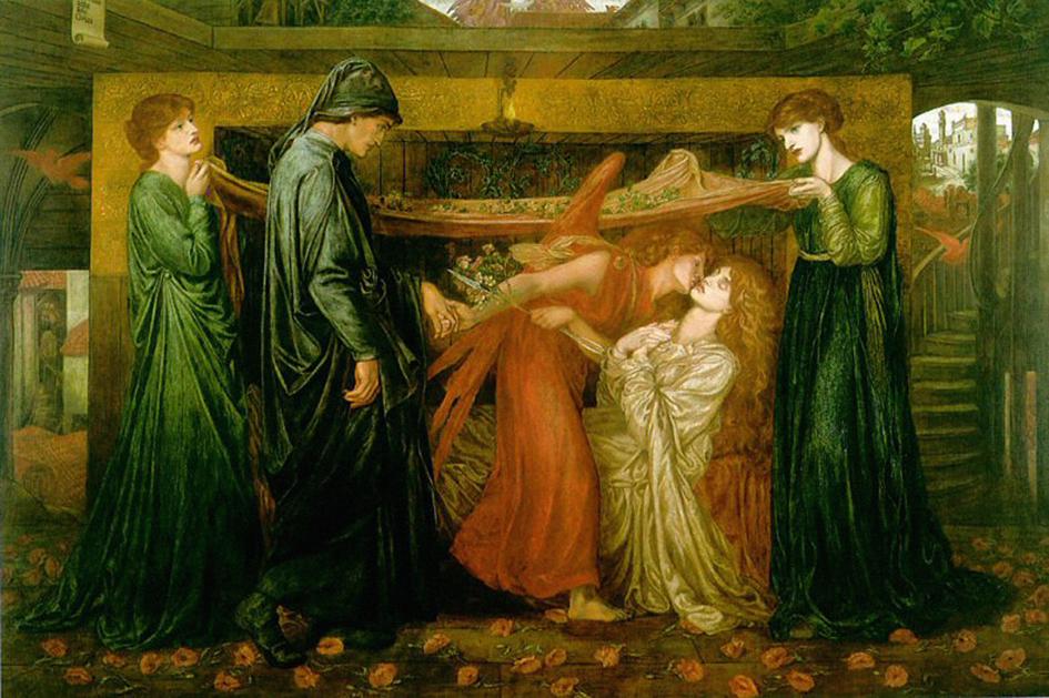 Dante's Dream at the Time of the Death of Beatrice, Dante Gabriel Rosetti 1871.jpg