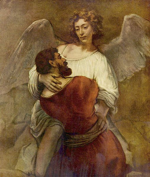 Jacob and the Angel, Rembrandt c1658.jpg