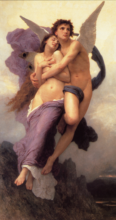 The Rapture Of Psyche, William Bougereau 1895.jpg