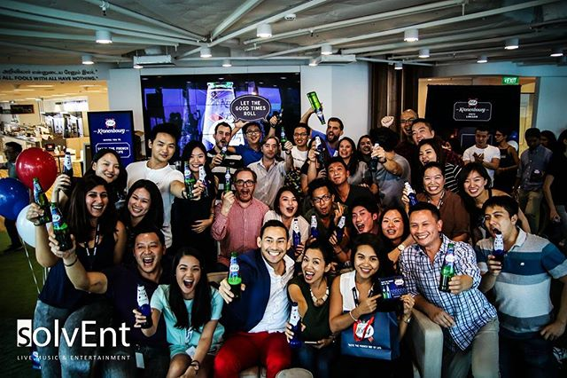 Our LinkedIn office party with solvEnt's singer and guitarist. And the amazing @paulfosterrr as the evening's emcee.  Amazing people amazing party.  #officeparty #entertainment #events #talentmanagement #singer #singapore #band #dj #livemusic #liveentertainment