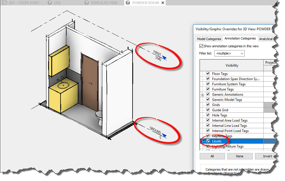 Revit 2019 new levels in 3D