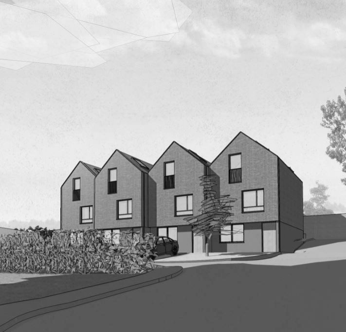 Refurbishment of existing house, with development of four new dwellings in rear garden plot