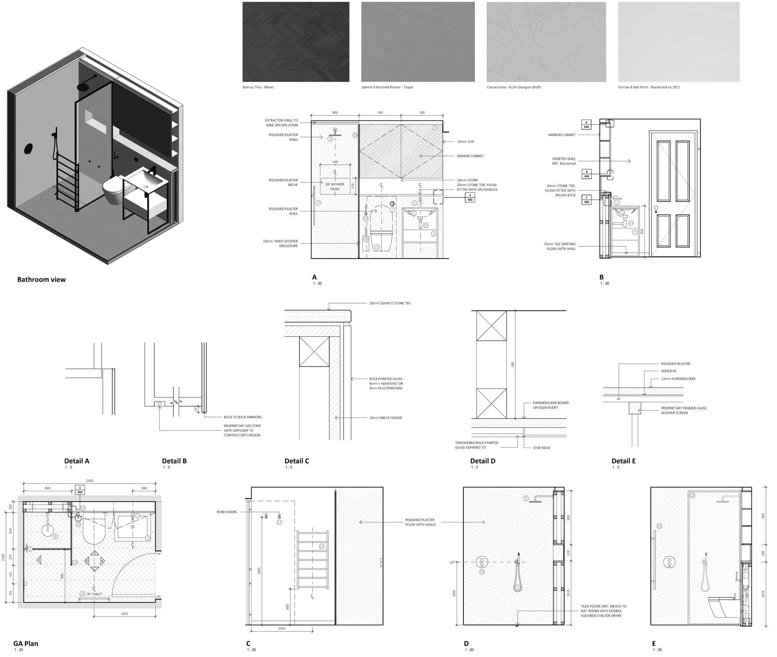 Example BIM drawing of bathroom