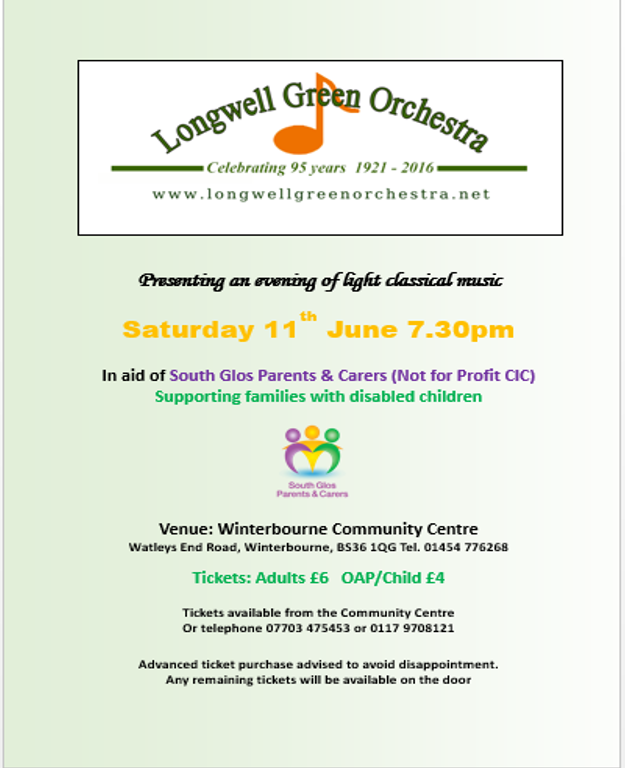 Longwell Green Orchestra Music Event