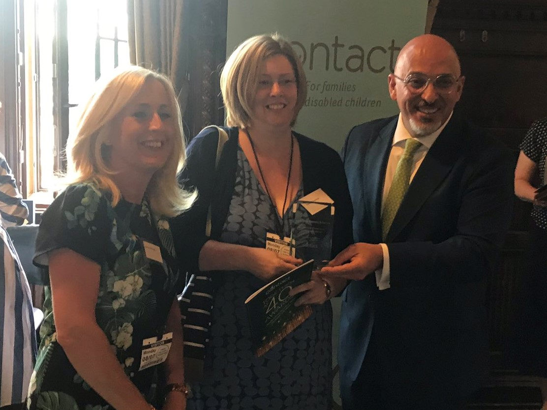 Rachel and Leonie with Minister for Children and Families Nadhim Zahawi