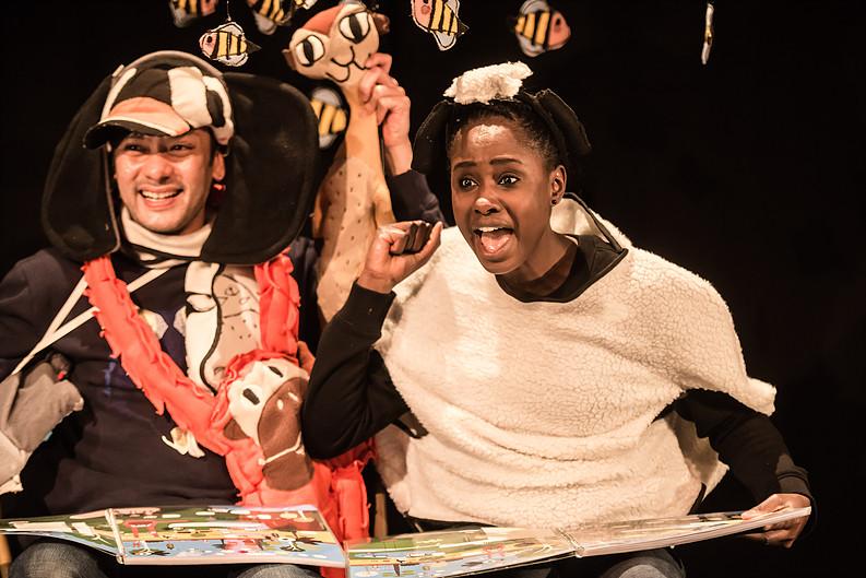 Adrian Sack en Aminata Demba spelen  Schaap zoekt groen